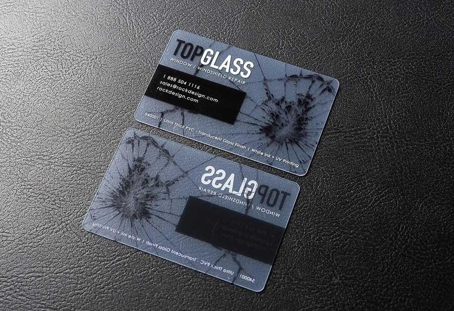 半透明的膠卡片